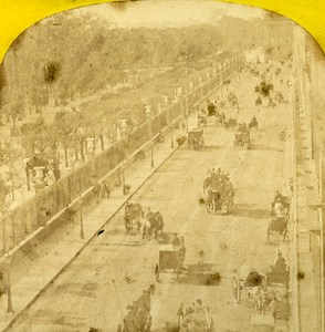 Rue de la Paix Paris Instantaneous France Old Stereoview Photo Lamy 1864