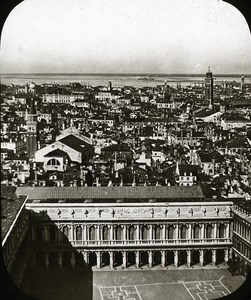 Panorama Venice Italy Old Glass Stereoview Ferrier 1855