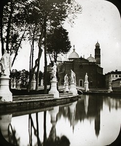 Basilica di Santa Giustina Canal Padua Italy Old Glass Stereoview Ferrier c 1855