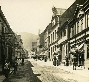 Friedrichroda Hauptstreet Germany Old Stereo Photo 1900