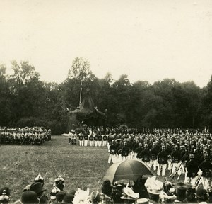 Munchen Military Scene Review Germany Old Stereo Photo 1900