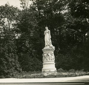 Berlin Queen Luise Statue Germany Old Stereo Photo 1900