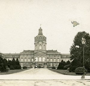 Charlottenburg Castle Germany Old Stereo Photo 1900