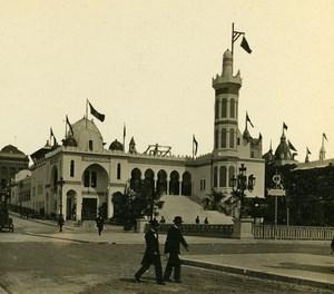 Algeria Palace Paris World Fair France Old Stereo Photo 1900