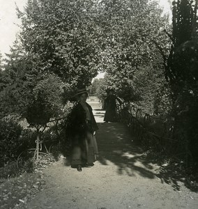 Germany Hamburg Public Garden Old Stereoview NPG 1900