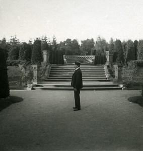 Germany Hamburg Public Garden Old NPG Stereoview Photo 1900