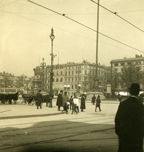 Germany Hamburg City Hall Place Old Stereoview NPG 1900