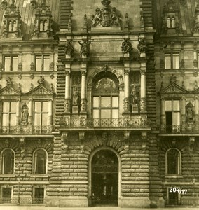 Germany Hamburg City Hall Old Stereoview NPG ca 1900