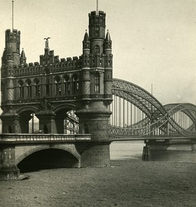 Germany Hamburg Elbe Bridge Old NPG Stereoview Photo 1900