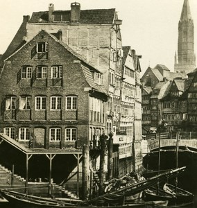 Germany Hamburg Winserbaum Old Photo Stereoview NPG 1900