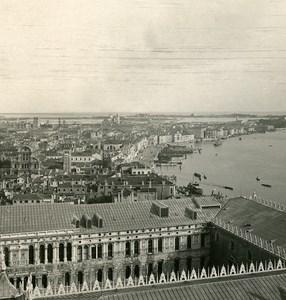 Italy Venice Panorama San Giorgio Old Stereoview Photo NPG 1900