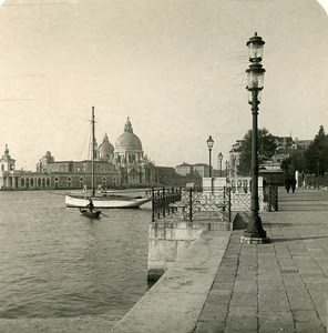 Italy Venice Place Piazzetta Old Stereoview Photo NPG 1900