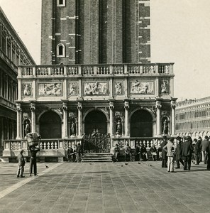 Italy Venice Loggia of Sansovino Old Stereoview Photo NPG 1900