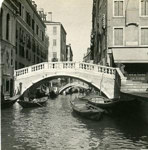 Italy Venice Rio Canonico Old Stereoview Photo NPG 1900