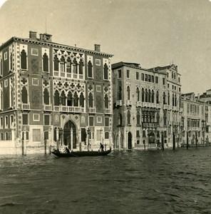 Italy Venice Cavallini Palace Old Stereoview Photo NPG 1900