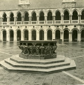 Italy Venice Ducal Palace Old Stereoview Photo NPG 1900