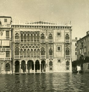Italy Venice Gold Canal Old Stereoview Photo NPG 1900