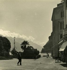 Italy Lake Garda Harbour of Riva Old Stereoview Photo NPG 1900