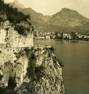 Italy Lake Garda Ponalestrasse Riva Old Stereoview Photo PG 1900