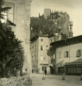 Italy Lake Garda Castel Arco Old Stereoview Photo PG 1900