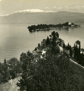 Italy Lake Garda Isola Garda Old Stereoview Photo Wehrli 1900