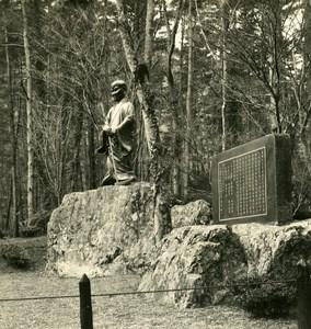 Japan Hozu Staue of Yoshida Old Stereoview Photo NPG 1900
