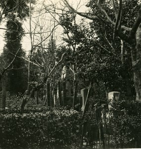 Japan Kyoto Cemetery Old Stereoview Photo NPG 1900