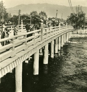 Japan Kyoto Sanjjiyo Bridge Old Stereoview Photo NPG 1900