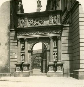 Germany Dresden Castle Door old Stereoview Photo NPG 1900