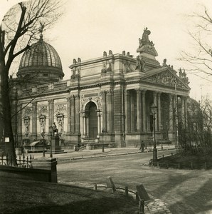 Germany Dresden Arts Museum old Stereoview Photo NPG 1900