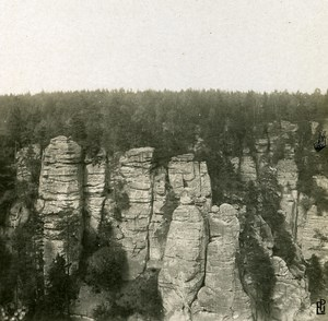 Germany Sächsische Schweiz Bastei old Stereoview Photo 1900