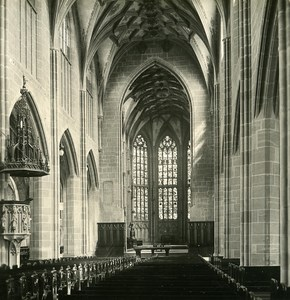 Switzerland Bern Cathedral Interior old Stereoview Photo NPG 1900