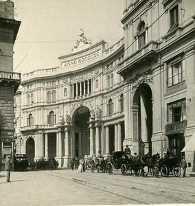Italy Naples Gallery Umberto I old Stereoview Photo NPG 1900