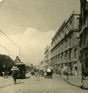 Italy Naples Cavour Square old Stereoview Photo NPG 1900