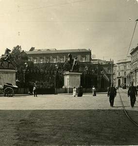 Italy Naples Palazzo Reale old Stereoview Photo NPG 1900