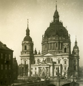 Germany Berlin Cathedral Dom old Stereoview Photo NPG 1900