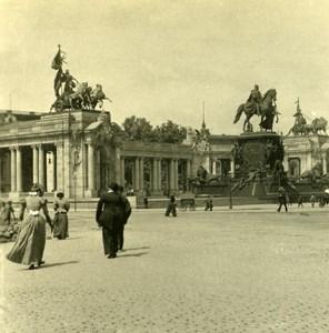Germany Berlin Monument Kaiser Wilhelm old Stereoview Photo NPG 1900