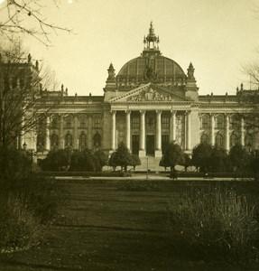 Germany Berlin Reischtag old Stereoview Photo NPG 1900