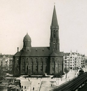 Germany Berlin Emmauskirche Lausitzer platz old Stereoview Photo NPG 1900