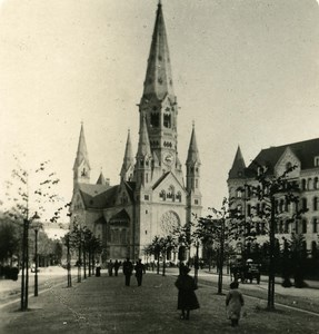 Germany Berlin Kaiser Wilhelm Kirche old Stereoview Photo NPG 1900