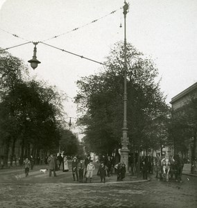 Germany Berlin Unter den Linden old Stereoview Photo NPG ca 1900