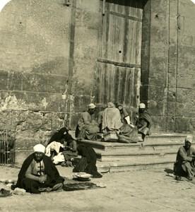 Egypt Cairo Street Scenery old Stereoview Photo NPG 1900
