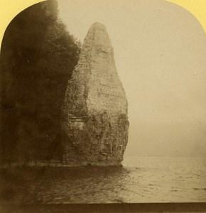 Switzerland Alps Vierwaldstättersee Lake Schiller old Gabler Stereo Photo c 1885