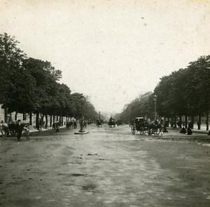 France Paris Avenue of Bois de Boulogne old Stereo SIP Photo 1900