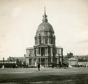 France Paris Place of the Invalides Instantaneous old Stereo SIP Photo 1900