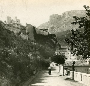 France Monaco Monte Carlo Road Instantaneous old Stereo SIP Photo ca 1900