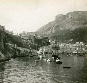 France Monaco Panorama Instantaneous old Stereo SIP Photo ca 1900