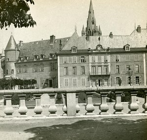 France Grenoble City Hall Instantaneous old Stereo SIP Photo 1900