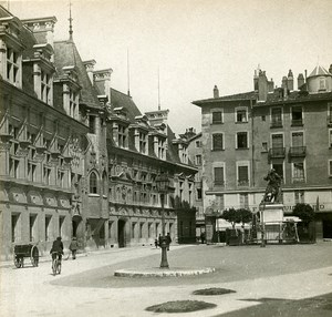 France Grenoble Courthouse Place Instantaneous old Stereo SIP Photo 1900