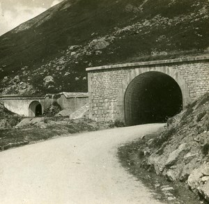 France Alps Lautaret Tunnel Instantaneous old Stereo SIP Photo 1900
